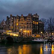 Amsterdam Corner Cafe Poster