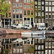 Amsterdam Houses By The Singel Canal Poster