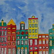 Amsterdam Houses Poster by Shruti Prasad