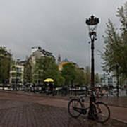 Amsterdam - The Yellow Umbrella Poster