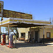 An Abandon Gas Station On Route 66 Poster