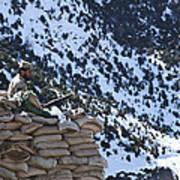 An Afghan Border Patrolman Provides Poster