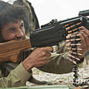 An Afghan Local Police Officer Fires Poster