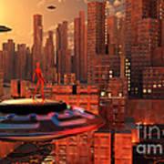 An Alien Race Migrating Poster by Mark Stevenson