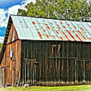 An American Barn 2 Oil Poster