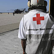 An American Red Cross Volunteer Waits Poster
