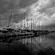 An Approaching Storm - Black And White Poster