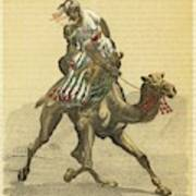 An Arab On His Camel, Riding Poster