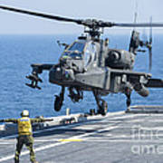 An Army Ah-64d Apache Helicopter Poster