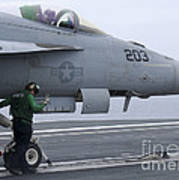 An Aviation Boatswains Mate Prepares An Poster
