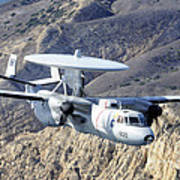 An E-2c Hawkeye Aircraft Flies Poster