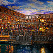 An Evening In Venice Poster by David Lee Thompson