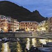 An Evening In Vernazza Poster