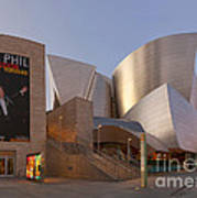 An Evening With Gustavo - Walt Disney Concert Hall Architecture Los Angeles Poster