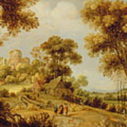 An Extensive Wooded Landscape Poster