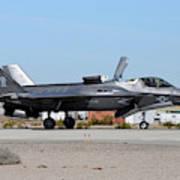 An F-35b Lightning II Landing At Marine Poster