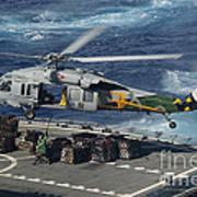 An Mh-60s Sea Hawk Helicopter Picks Poster