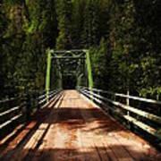 An Old Bridge Crossing The Seleway River  Poster