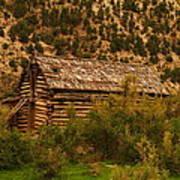 An Old Cabin In Utah Poster