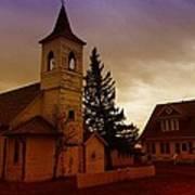An Old Church In Williston North Dakota  Poster by Jeff Swan