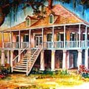 An Old Louisiana Planters House Poster