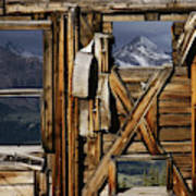 An Old Miners Shack With A View Poster