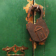 An Old Rusty Lock Poster