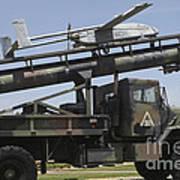 An Rq-2b Pioneer  Uav On An M927 Poster