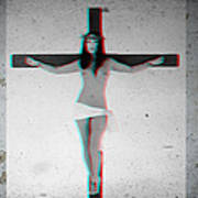 Anaglyph Asian Female Jesus Poster