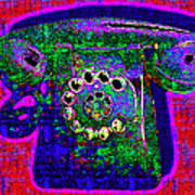 Analog A-phone - 2013-0121 - V4 Poster by Wingsdomain Art and Photography