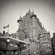 Analog Photography - Chateau Frontenac Quebec Poster