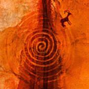 Anasazi Spirals  Poster