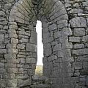 Ancient Abbey Window Ireland Poster