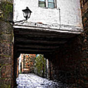 Ancient Alley In Tui Poster