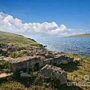 Ancient Archaeological Site On The Coast Of Crimea Ukraine Poster