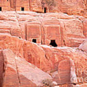 Ancient Buildings In Petra Poster