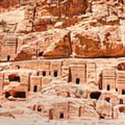 Ancient Dwellings At Petra Poster