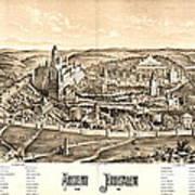 Ancient Jerusalem Map 65ad Poster