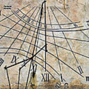 Ancient Sundial Poster