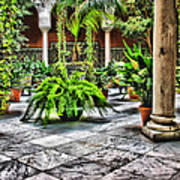 Andalusian Courtyard In Sevilla Spain Poster