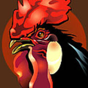 Andalusian Rooster 2 Poster by Patricia Howitt