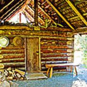 Andrew Berg's Homestead Cabin At Kenai National Wildlife Refuge In Soldotna-alaska Poster