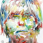 Andy Warhol Watercolor Portrait Poster