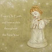 Angel Christmas Card Poster