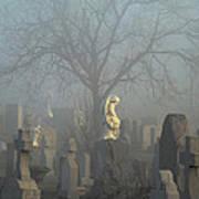 Angel Mist Cemetery Poster