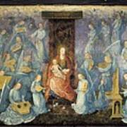 Angelical Concert. 15th-16th C. Flemish Poster by Everett