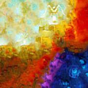 Angels Among Us - Emotive Spiritual Healing Art Poster