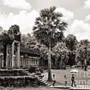 Angkor Wat Bw II Poster