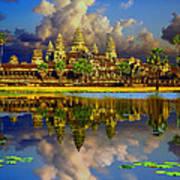 Angkor Wat Just Before Sunset Poster