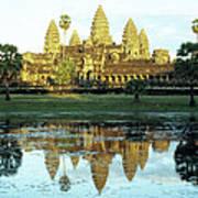 Angkor Wat Reflections 01 Poster